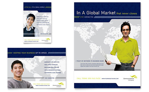 Global Communications Company Flyer & Ad Template