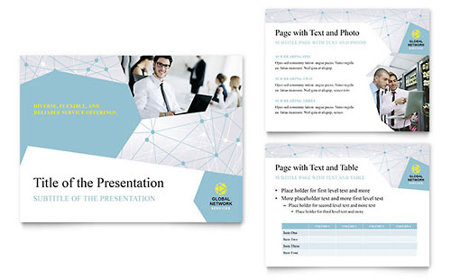 Global Network Services PowerPoint Presentation Template
