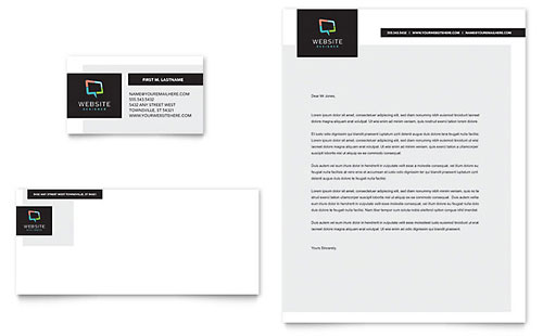 Website Designer - Business Card & Letterhead Template