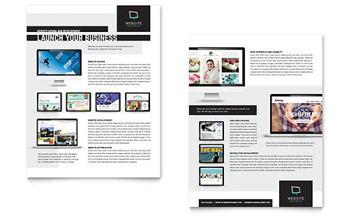 Website Designer Datasheet Template