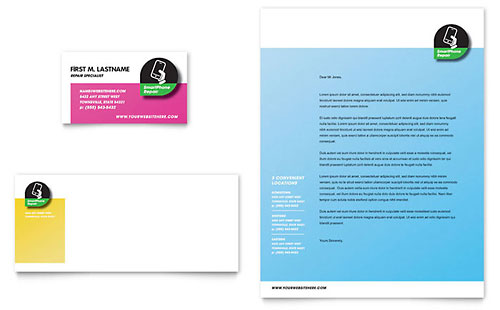 Smartphone Repair - Business Card & Letterhead Template