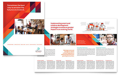 Application Software Developer Brochure Template