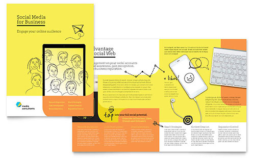 Pamphlet Templates InDesign Illustrator Publisher Word – Pamphlet Layout
