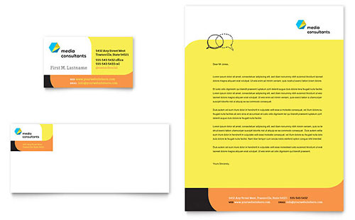 Social Media Consultant Stationery Template