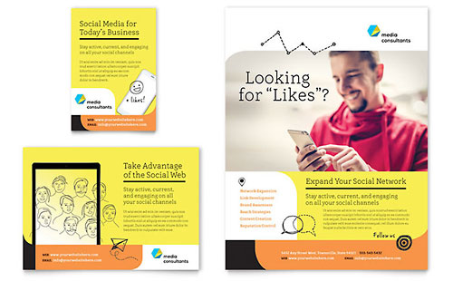 Social Media Consultant Flyer & Ad Template