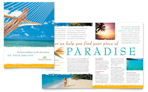 state brochure template - hawaii brochure templates travel tourism