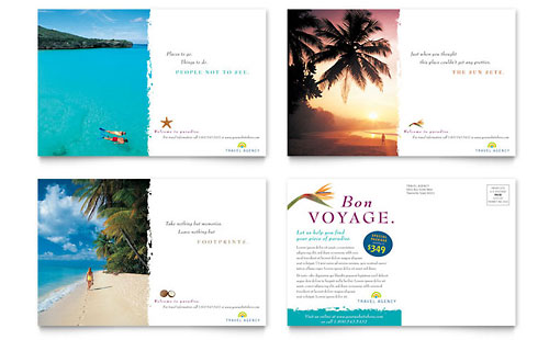 Hawaii Postcard Templates Travel Amp Tourism