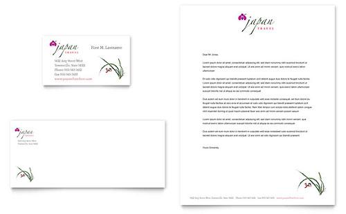 Japan Travel Business Card & Letterhead Template