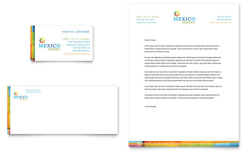 Mexico Travel Business Card & Letterhead Template