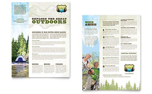 Nature Camping & Hiking Datasheet Template