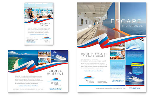 Cruise Travel Flyer & Ad Template