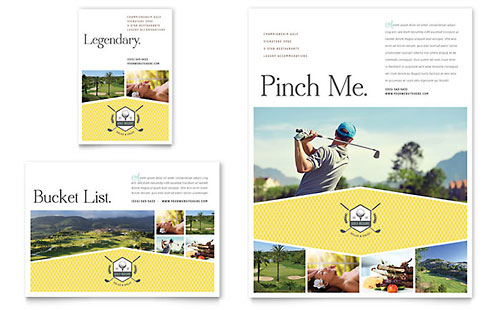 Golf Resort Flyer & Ad Template