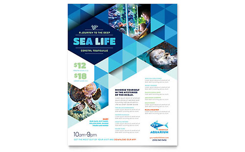 Ocean Aquarium Flyer Template