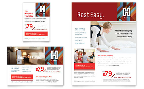 Hotel Print Ad Template