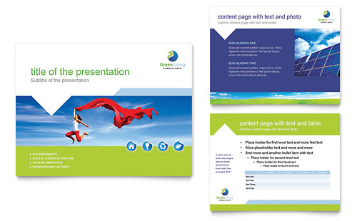 Green Living & Recycling PowerPoint Presentation Template