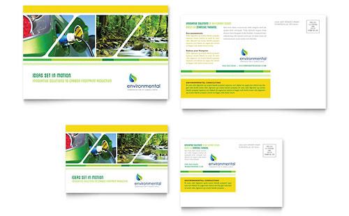 Environmental Conservation Postcard Template