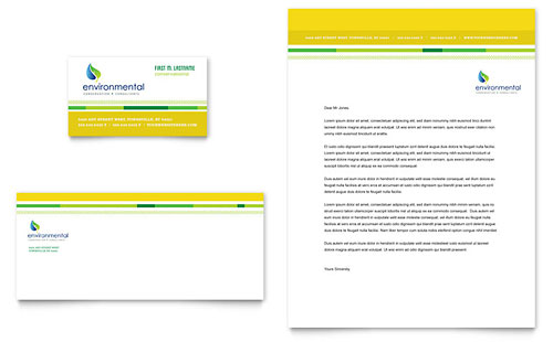 Environmental Conservation Business Card & Letterhead Template