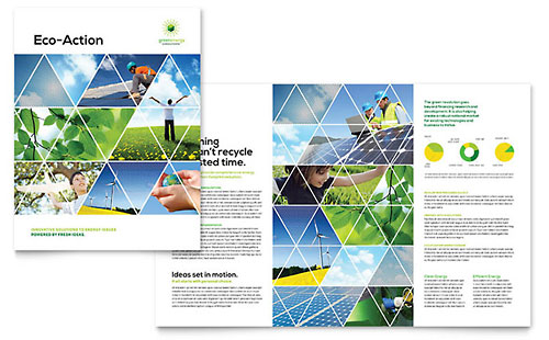 Green Energy Consultant Print Design Brochure Template