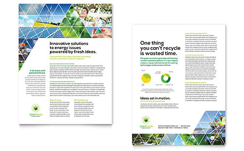 Green Energy Consultant Datasheet Template