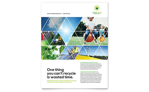 Green Energy Consultant Leaflet Template