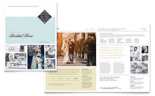 Bridal Show Brochure Template - CorelDraw