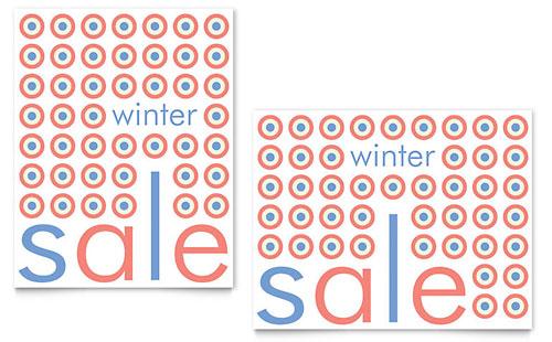 Geometric Winter Color Sale Poster Template