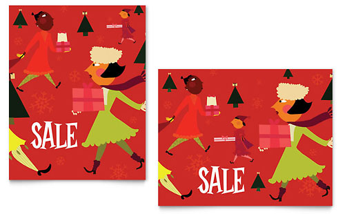 Holiday Shoppers Sale Poster Template