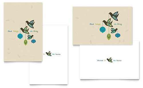 Glad Tidings Greeting Card Template