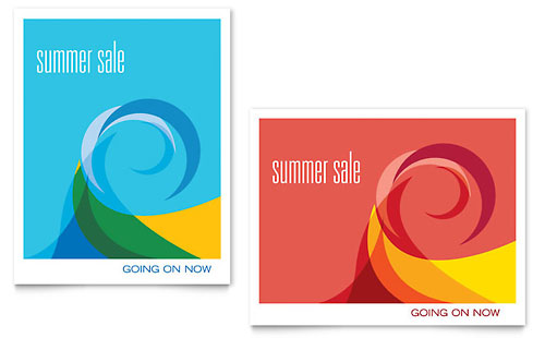 Summer Waves Sale Poster Template