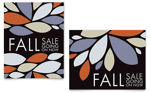 Contemporary Leaves Sale Poster Template