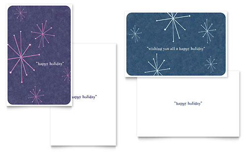 Snowflake Wishes Greeting Card Template