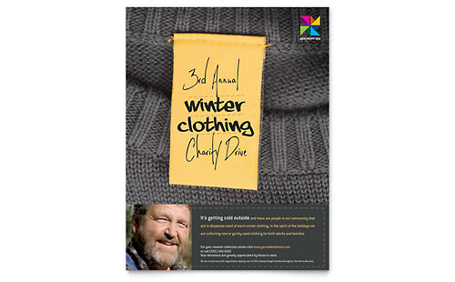 Winter Clothing Drive Flyer Template