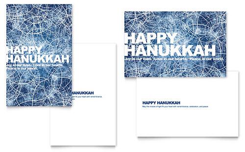 Happy Hanukkah Greeting Card Template