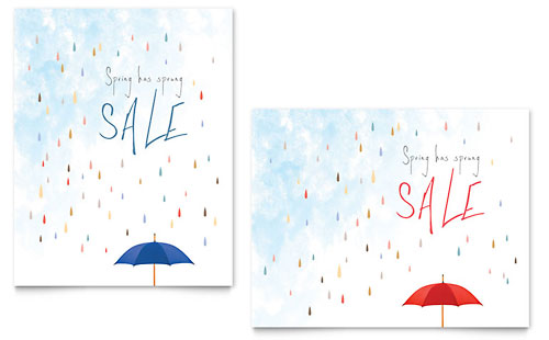Rainy Day Sale Poster Template