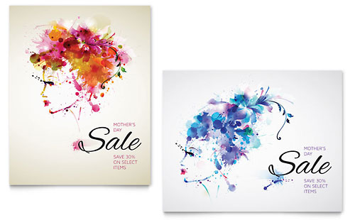 Mother's Day Sale Poster Template