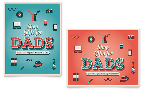Father's Day Sale Poster Template