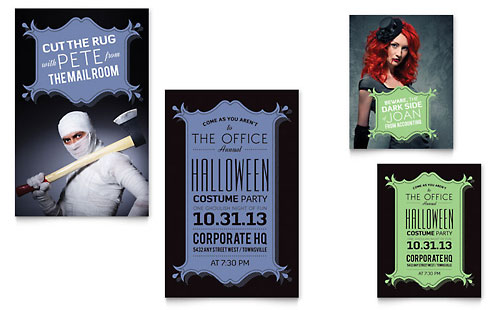 Halloween Costume Party - Note Card Sample Template