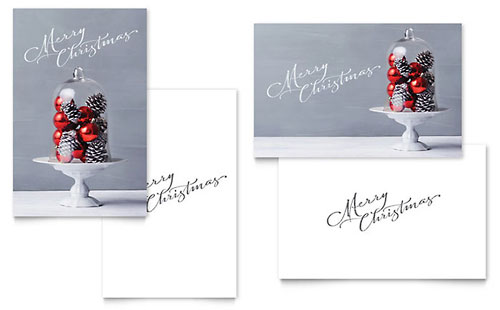 Christmas Display Greeting Card Template