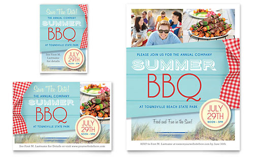 Summer BBQ Flyer & Ad Template