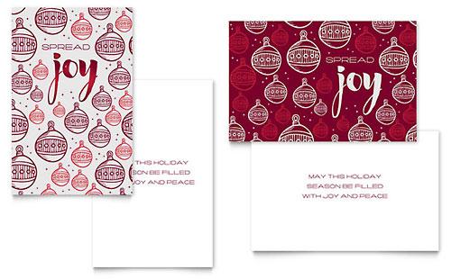 Joy - Sample Greeting Card Template