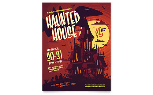 Haunted House Flyer Template