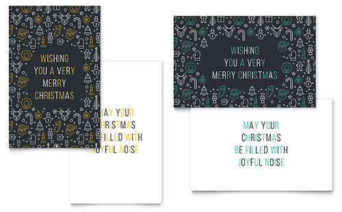 Christmas Wishes - Sample Greeting Card Template