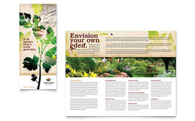 Landscape Design - Adobe Illustrator Tri Fold Brochure Template