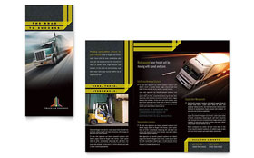 Trucking & Transport - Tri Fold Brochure Template
