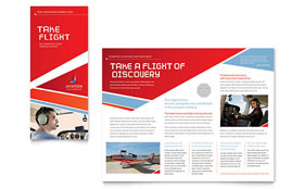 Aviation Flight Instructor - Print Design Brochure Template