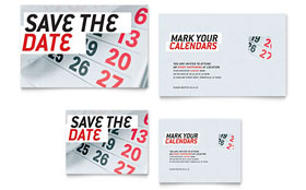 Save The Date - Note Card Template