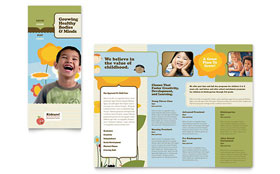Child Development School - Microsoft Word Tri Fold Brochure Template