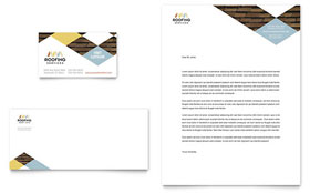 Roofing Contractor - Business Card