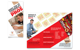 Handyman Services - Graphic Design Tri Fold Brochure Template