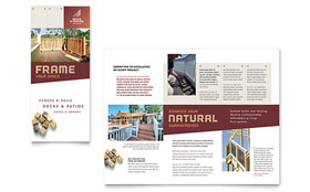 Decks & Fencing - Graphic Design Brochure Template